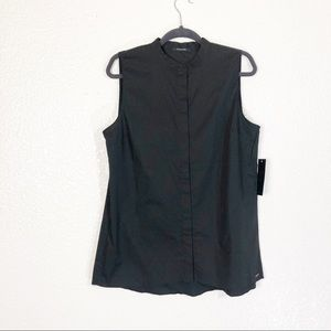 NWT Tahari Carla Women's Sleeveless Black Top
